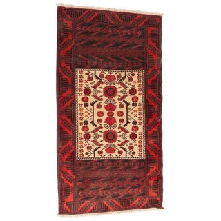 Persian Geometric Baluch Rug - 3′ × 5′6″ For Sale