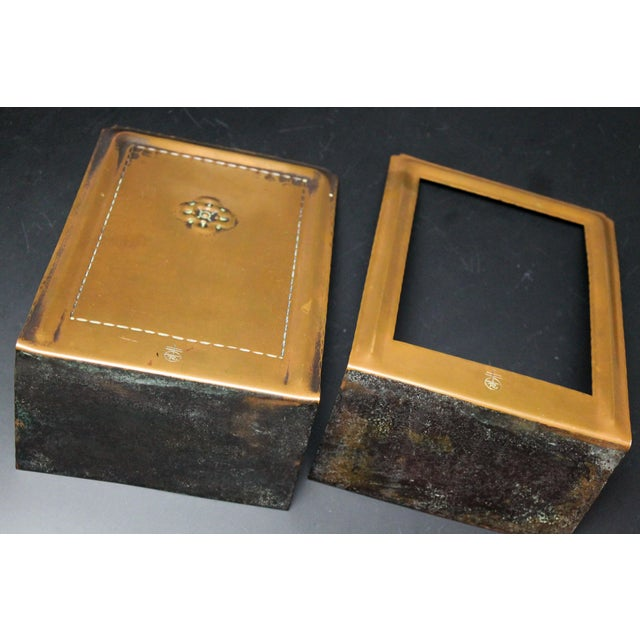 Brown Roycroft Hammered Copper Bookends - A Pair For Sale - Image 8 of 10
