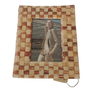 Abaca Woven Decorative Picture Frame For Sale