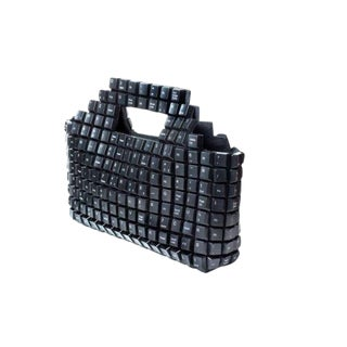 Computer Keyboard Keys Handbag Black Contemporary Joao Sabino For Sale