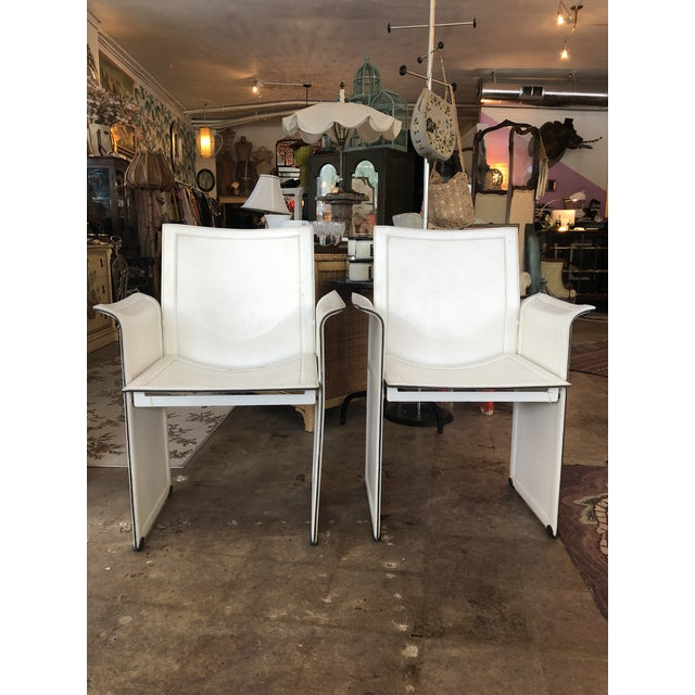 Vintage Tito Agnoli for Matteo Grassi Korium Leather Chairs - A Pair For Sale - Image 13 of 13