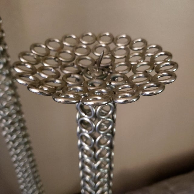 Mid Century Modern Tall Stainless Candlestick Holder Floor Candle Holder Taper Jere's Era Metal Table Art Beautiful...