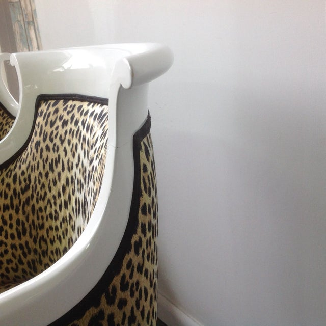 Leopard Print Italian Chairs - A Pair For Sale - Image 7 of 8