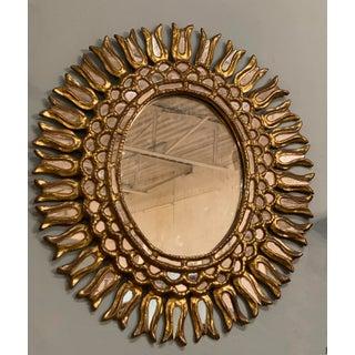Vintage Oval Starburst Mirror Preview