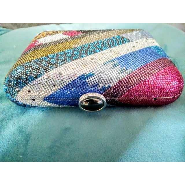 1990s Stunning Judith Leiber Limited Edition Minideure Boa Holiday Crystal Hand Bag Purse For Sale - Image 5 of 9