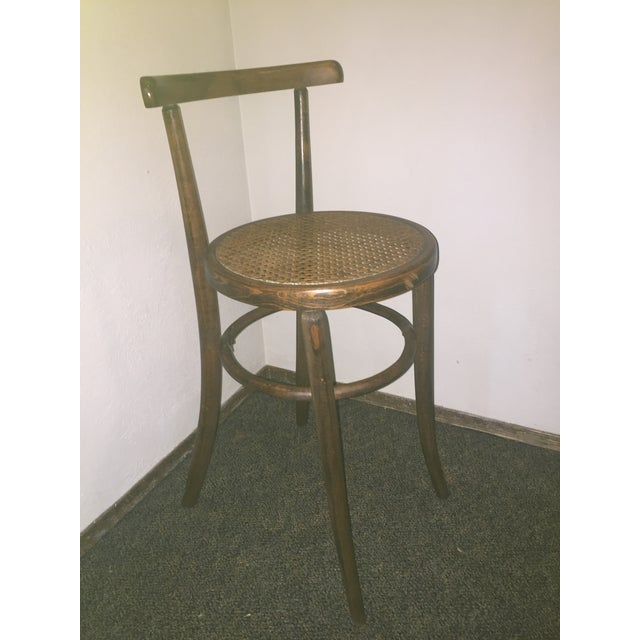 1930s Antique Thonet Style Bentwood Counter Bar Stool For Sale - Image 11 of 13