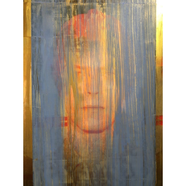 """Abstract Expressionism """"Golden Years"""" Mixed Media Painting by Dan J Leahy For Sale - Image 3 of 7"""