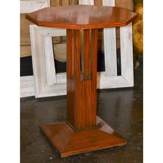 Midcentury Tiger Oak Stand For Sale - Image 4 of 7