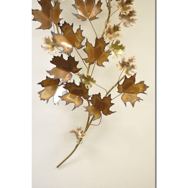 Curtis Jere Vintage Mid Century Modern Curtis Jere Maple Leaf Wall Sculpture Brutalist A For Sale - Image 4 of 11