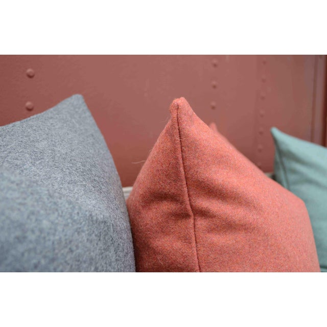 FirmaMenta Italian Gray Sustainable Wool Lumbar Pillow For Sale - Image 4 of 6