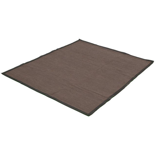 """Contemporary Handmade Jute Black and Brown Rug-8'10"""" X 11'6"""" For Sale - Image 3 of 9"""