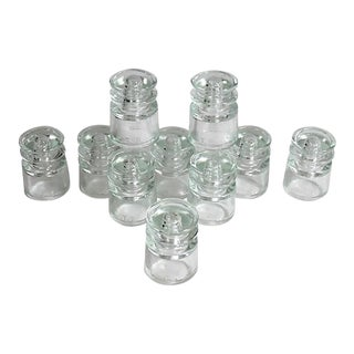 Vintage Glass Insulators, S/10 For Sale