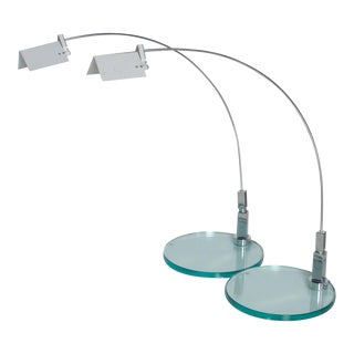 Modern Fontana Arte Table Lamps, Model Falena by Alvaro Siza, Italy - a Pair For Sale