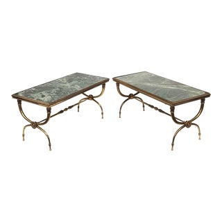 1940s Neoclassical Raymond Subes Coffee Tables - a Pair For Sale
