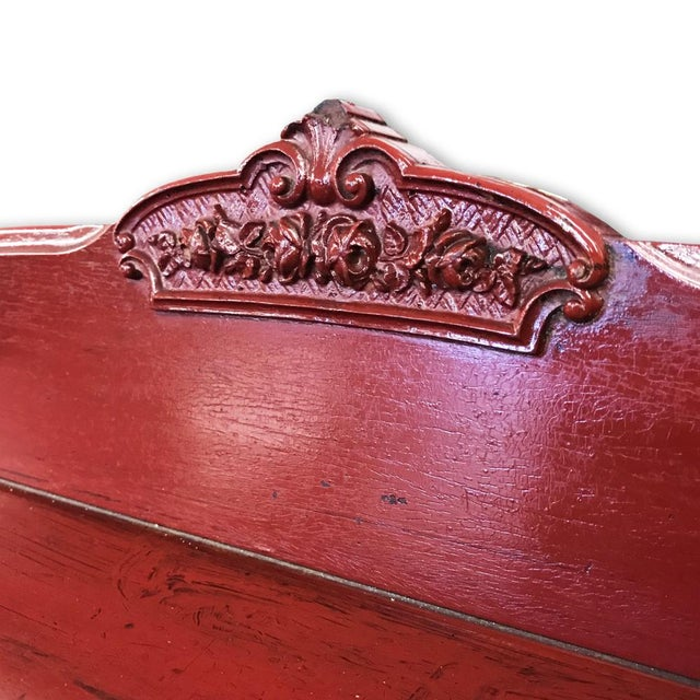 Antique Victorian Red Gentleman's Chest of Drawers - Image 6 of 7
