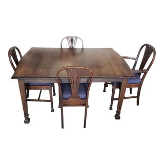 Antique Walnut Dining Set For Sale