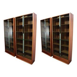Pair of Carlo Scarpa Zibaldone Bookcases by Bernini
