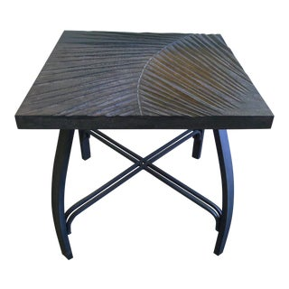 Hand Carved Fossil Table For Sale