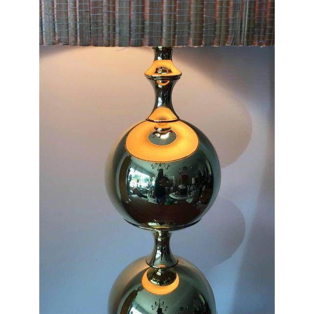 Tommi Parzinger 1960s Tower Craftsman Polished Brass Lamp For Sale - Image 4 of 6