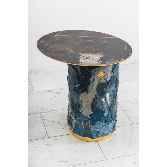Concrete and Steel Occasional Table, Usa, 2019 For Sale - Image 12 of 12