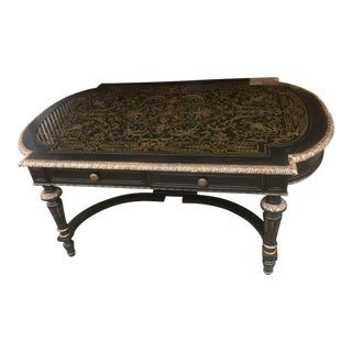 Maitland Smith Black Vendome Cocktail Table