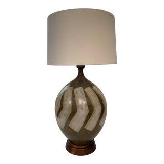Mid Century Italian Ceramic Lamp For Sale