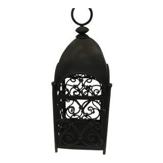Handcrafted Artesian Iron Garden Lantern For Sale