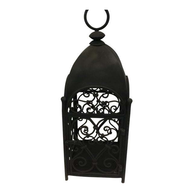Handcrafted Artesian Iron Garden Lantern For Sale