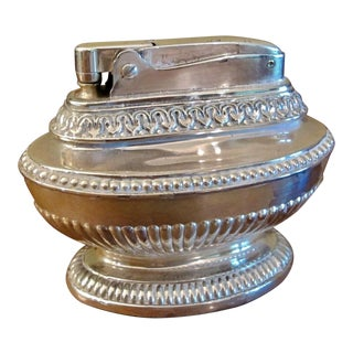 Vintage Hollywood Silver Table Lighter For Sale