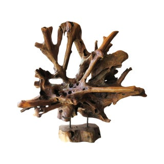 Mid-Century Modern Petrified Organic Wood Sculpture For Sale