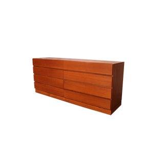 Danish Modern Long Teak Dresser by Vinde Mobelfabrik For Sale