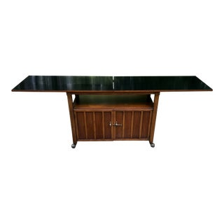 Mid Century Bar Cabinet Console Table Media Storage