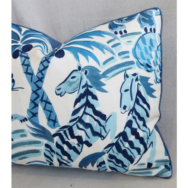 """Early 21st Century P. Kaufmann Blue & White Animal Feather/Down Pillow 22"""" X 16"""" For Sale - Image 5 of 9"""