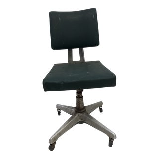 Vintage Industrial Green Swivel Office Chair by Goodform For Sale