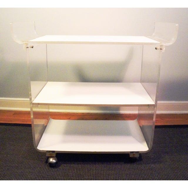 Mid-Century Acrylic Bar Cart - Image 7 of 7