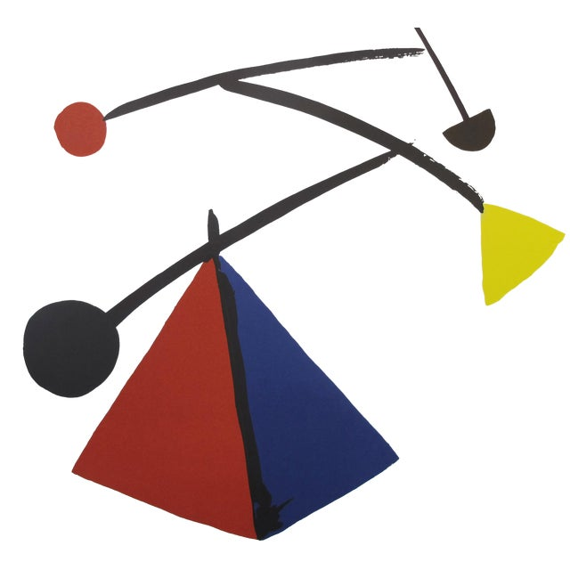 1992 Original Exhibition Poster, Institut Français De Prague - Calder For Sale