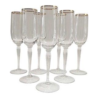 Gorham Crystal Champagne Flutes - Set of 7