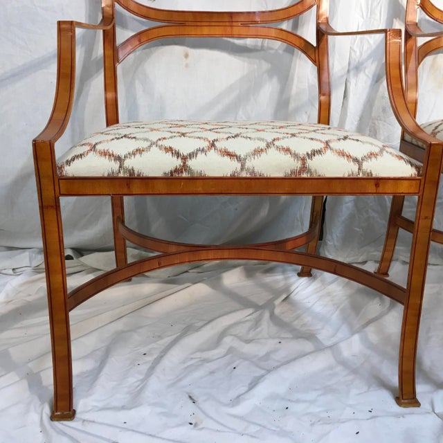 Maitland Smith Tole Armchairs - a Pair - Image 8 of 11