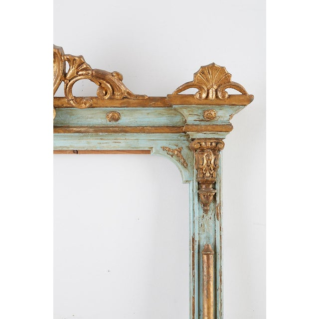 19th Century Venetian Painted Mirror Frame or Picture Frame For Sale - Image 4 of 13