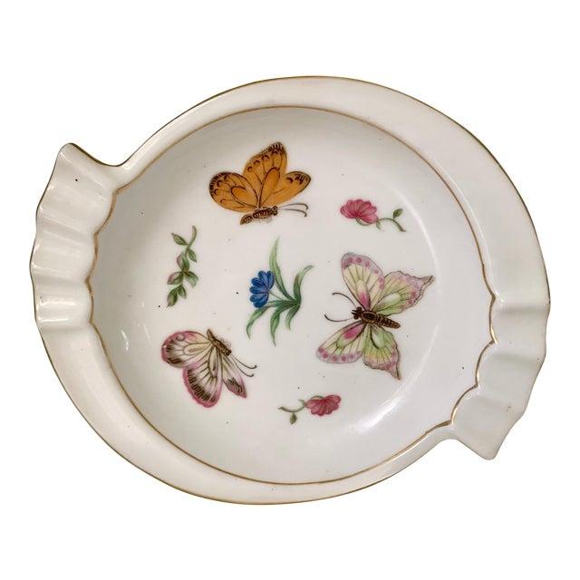 Lj Porcelain Japan Butterfly Dish For Sale