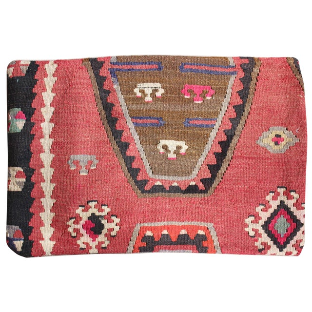 Vintage 1960s Turkish Kilim Pillow Cover - Image 1 of 5