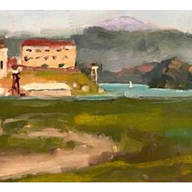 This scene was painted plein air on location in Greenbrae, CA, with a gorgeous view of San Quentin Penitentiary. 8 x 12 on...