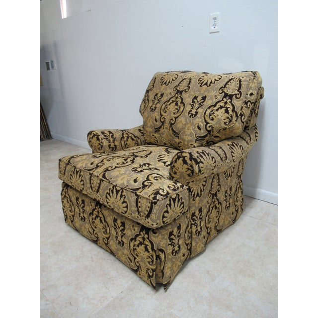 Textile 1990s Vintage Custom Tomlinson Ervin Lambeth Club Lounge Chair For Sale - Image 7 of 11