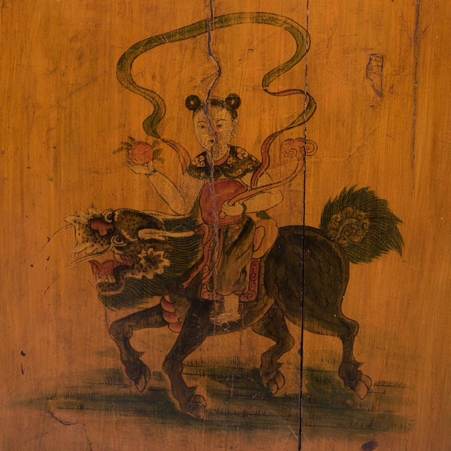 Qilin Painted Coffer For Sale - Image 4 of 10