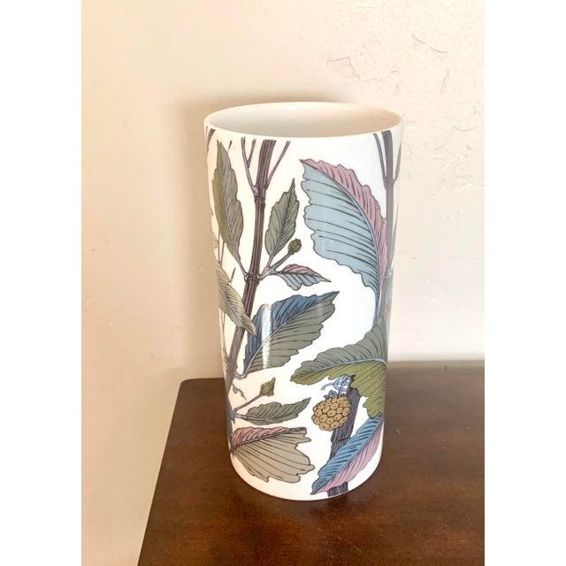 Hollywood Regency Rosenthal Germany Studio Line Large Gilt Botanical Vase For Sale - Image 3 of 10