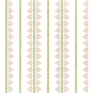 Fern Stripe Wallpaper by Anna French - Sample For Sale