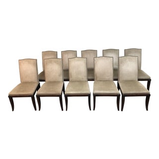 Hickory Chair Company Chelsea Dining Chairs Set of Ten For Sale
