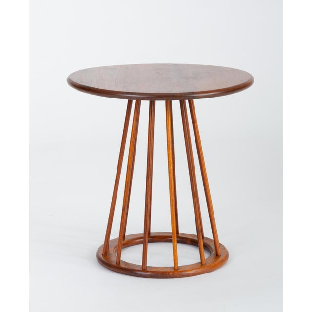 1950s Walnut Round Side Table by Arthur Umanoff for Washington Woodcraft For Sale - Image 10 of 10