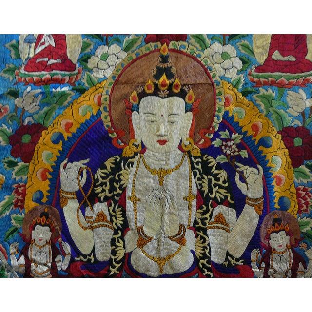 Embroidery Tibetan Tara Buddha Thangka Art - Image 9 of 10