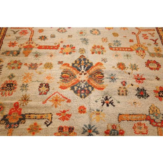 Antique Turkish Arts & Crafts Oushak Rug - 8′4″ × 17′3″ For Sale - Image 4 of 11